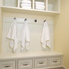 Traditional Closet with wainscoting wood wall paneling