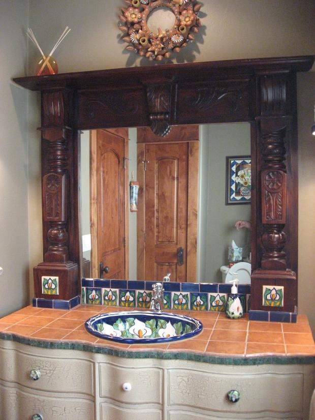 Southwestern Bathroom Timnath Drop Sink Terra