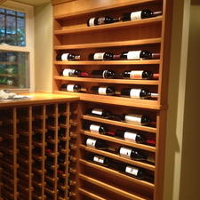 Modern Wine Cellar with cusstom wine racks