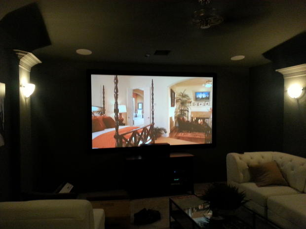Transitional Home Theater In Houston Interior Paint