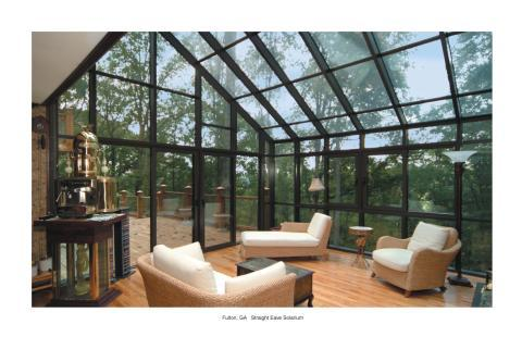 Contemporary Sunroom with light wood flooring