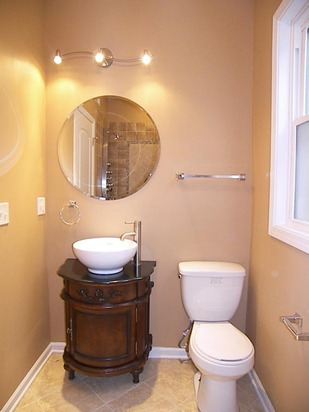 Traditional Powder Room In Palos Hills Wall Mounted