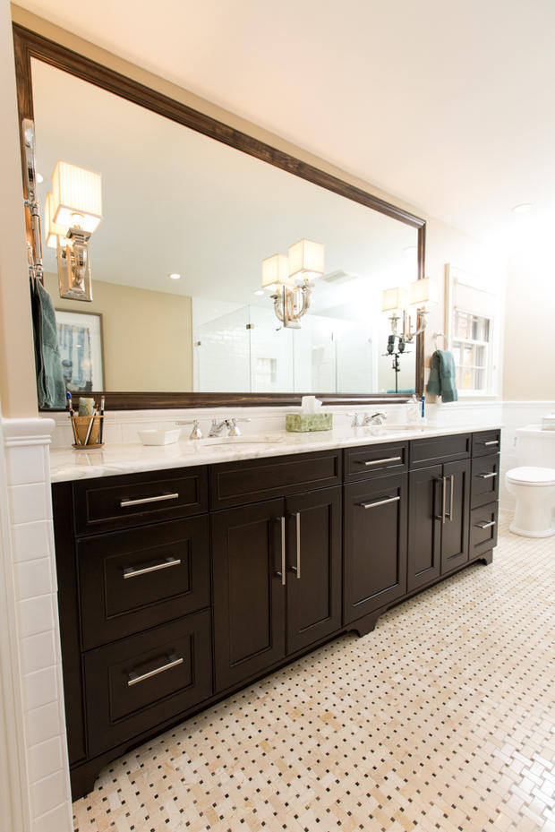 Contemporary Bathroom In Hamilton European Pulls Marble Counter By Houghton Contracting Llc