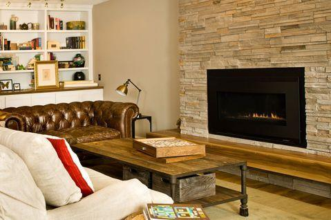 Eclectic Family Room with eclectic style family room with fireplace