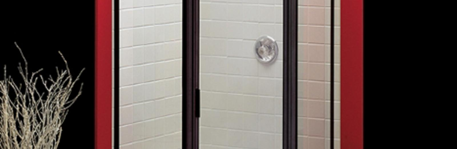 Contemporary Bathroom with oil rubbed bronze framed shower door