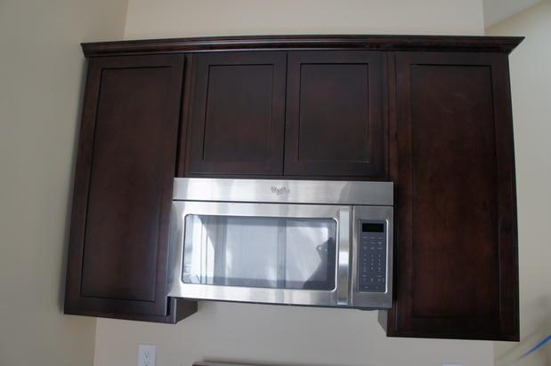 Transitional Kitchen in Los Angeles - dark kitchen ...