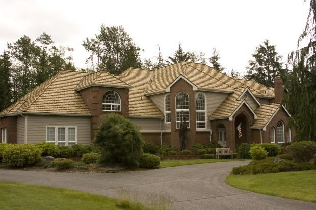 Transitional Home Exterior In Kirkland Beautiful Brown