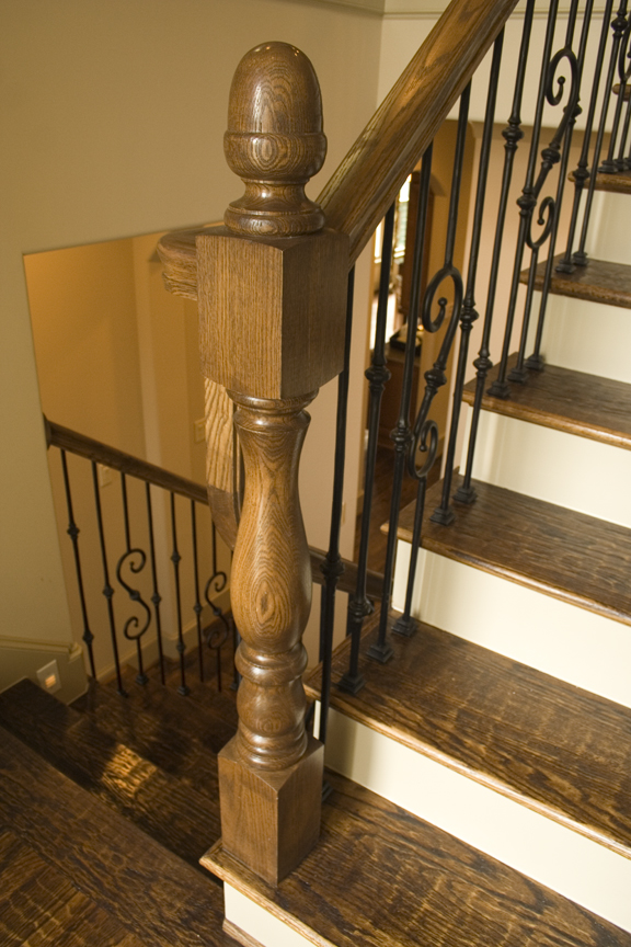 rustic staircase in houston