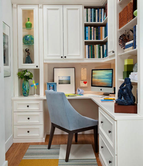 Transitional Home Office Ideas Designs Pictures