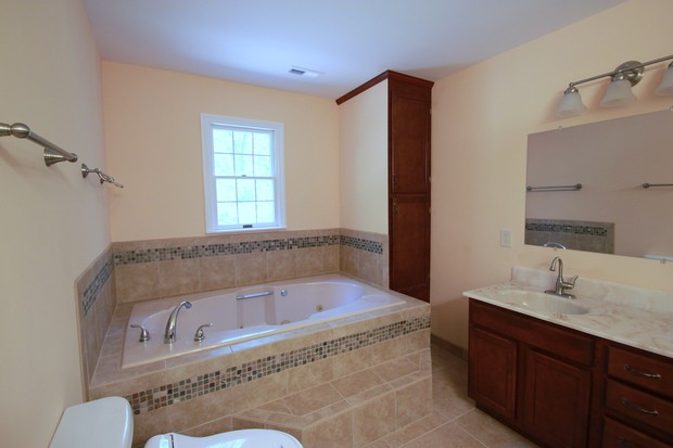 Casual fortable Bathroom in Fredericksburg stained