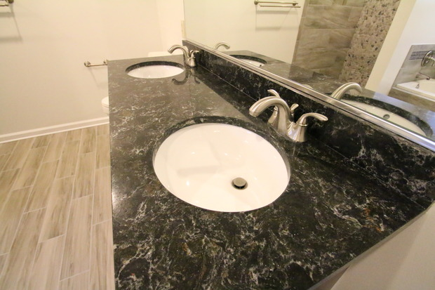Contemporary bathroom in fredericksburg marble back for Bathroom remodeling fredericksburg va
