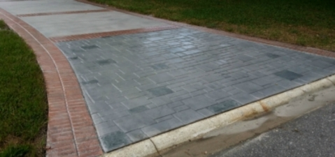 Traditional Driveway In Jacksonville Stamped Slate