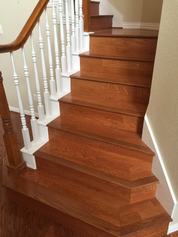 Traditional Staircase In Lewisville Bullnose Stair Nose