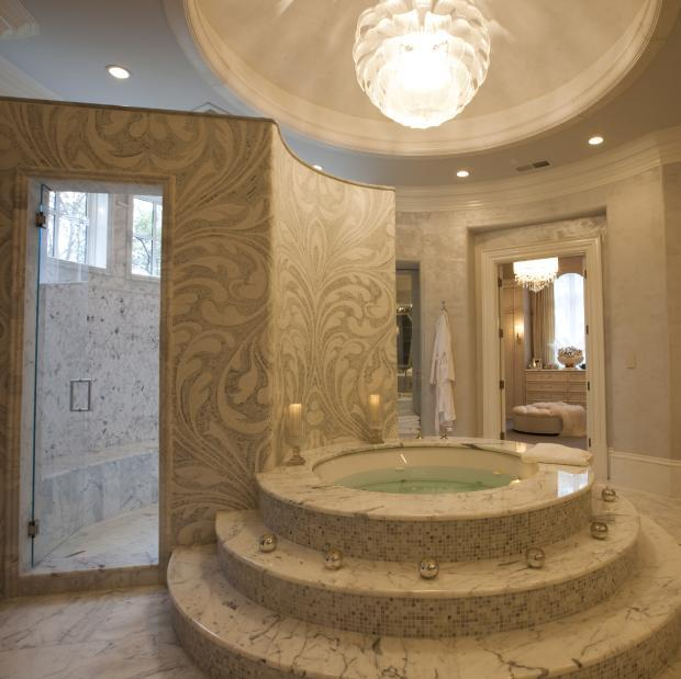 Transitional Bathroom In Fort Lauderdale Drop In Hot Tub