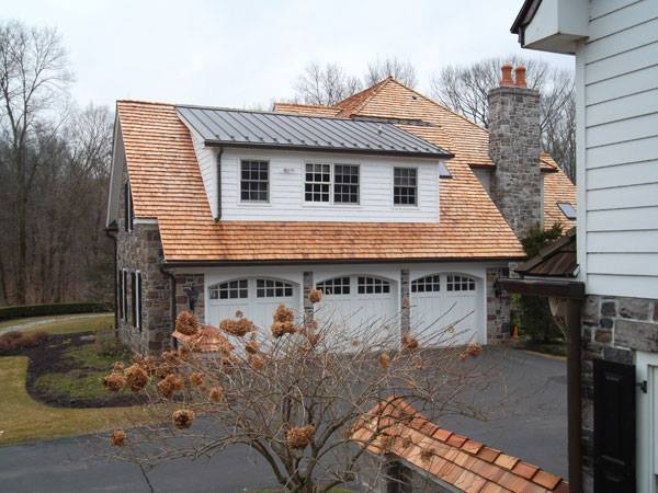 French Country Garage In Doylestown Stone Chimney Wood