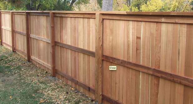 Traditional Home Exterior In Highlands Ranch Cedar Fence