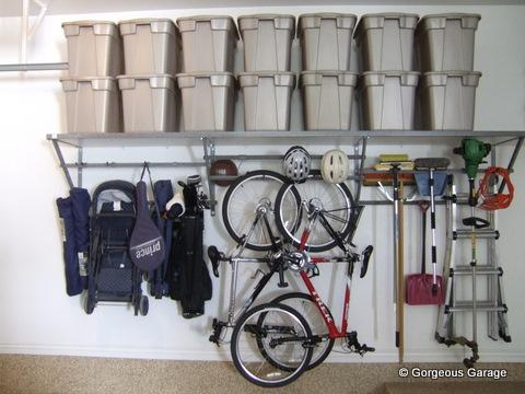 Traditional Garage with wall mounted organizer