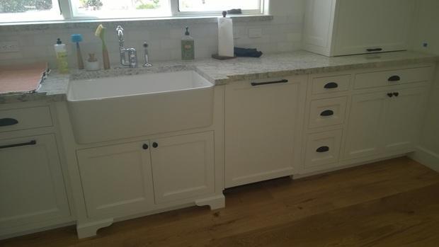 Porcelain Apron Front Sink : Transitional Kitchen in Surprise - porcelain apron front sink ...