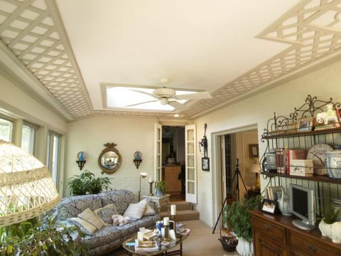 Traditional Sunroom with designed and amp installed lattice