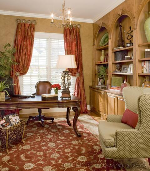 Traditional Home Office with casual comfortable