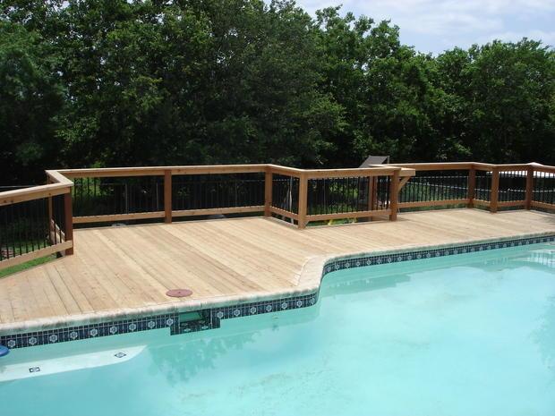 Pool in san antonio gunite pool liner metal balusters for Pool design concepts llc