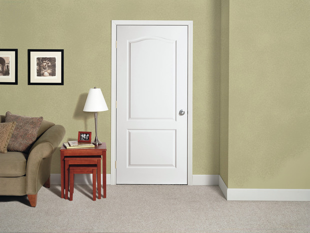 Contemporary Living Room In Torrance Beige Carpet White Wood Baseboards By Interior Door Closet Company