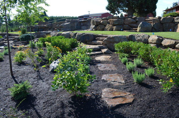 Casual comfortable landscape in vancouver plants for Landscaping rocks vancouver wa