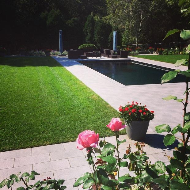 english country pool in gloucester planter with flowers rectangular pool by essex county. Black Bedroom Furniture Sets. Home Design Ideas