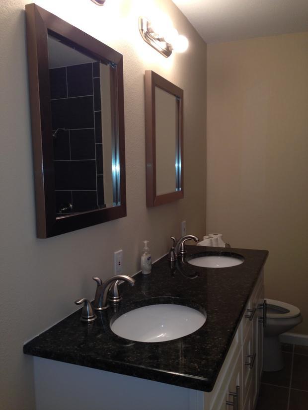 Casual comfortable bathroom in austin tile floor for Casual bathroom ideas