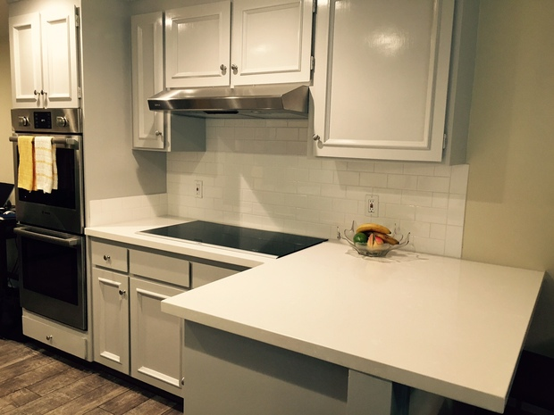 Contemporary Kitchen In Danville Raised Panel Cabinets Quartz Counter By Home Select