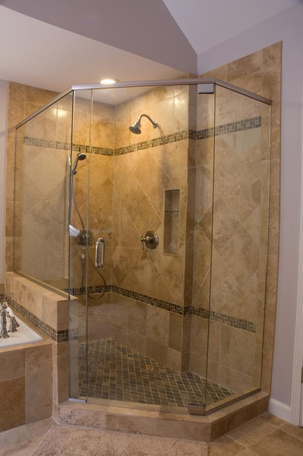 Traditional Bathroom In Marietta Shower Stall Wall Niche