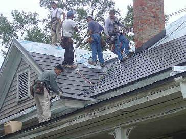 Custom Metal Shingle Roof Siding Trim Install Pictures