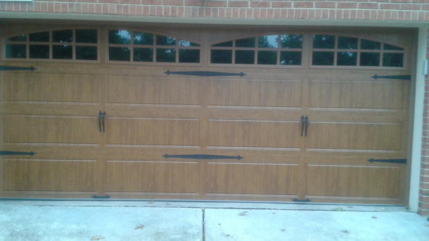 French Country Garage In Crestwood Wood Garage Door