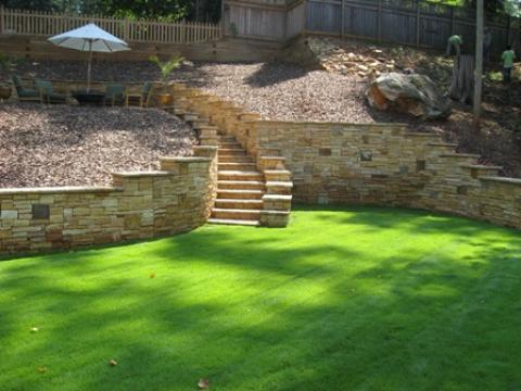 Traditional Landscape with gravel landscaped area
