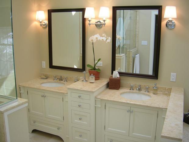 Wonderful  Mirror Light Espresso Finish  Transitional  Bathroom Mirrors  By