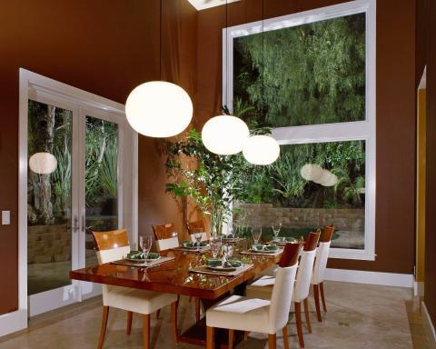 Add To Transitional Dining Room With Large Sphere Chandelier Ceiling Lights
