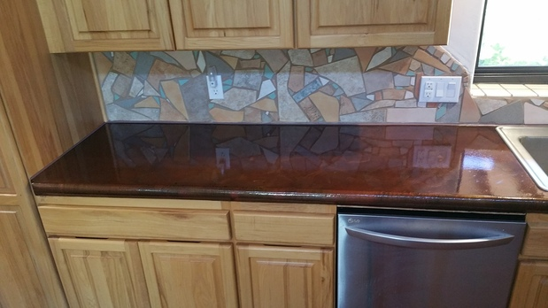 Transitional Kitchen In Tucson Concrete Countertop