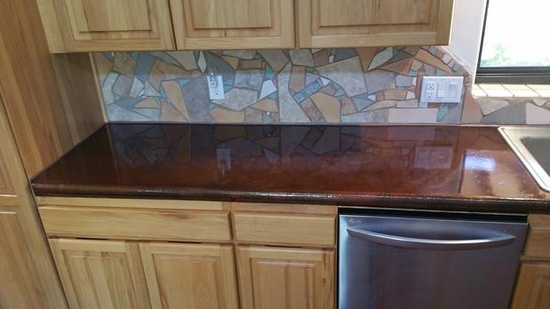 Transitional Kitchen In Tucson Concrete Countertop