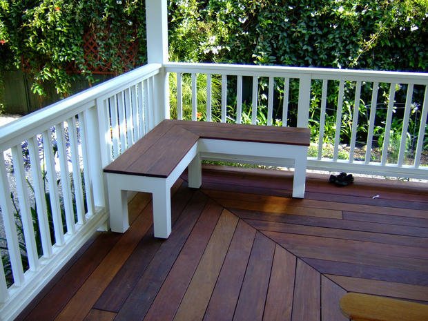 Contemporary Deck With White Painted Guard Rail