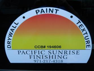 Pacific Sunrise Finishing
