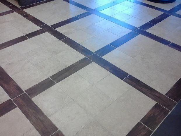 Brown ceramic tile