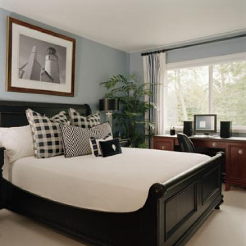 Traditional Bedroom In Delray Beach Bright Black