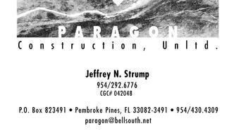 Paragon Construction Unlimited Inc Pembroke Pines Fl