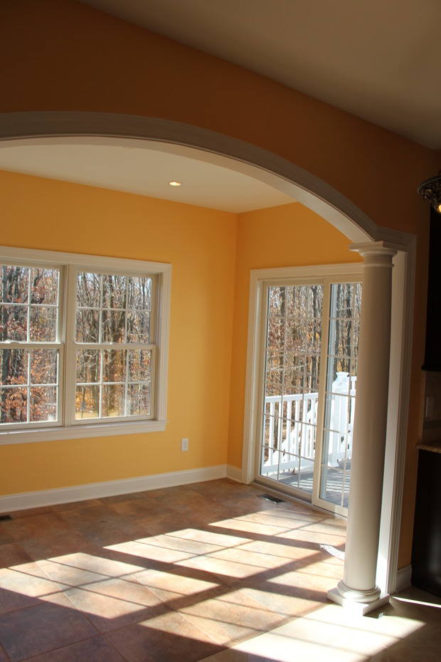 Colonial Sunroom In Yardley Arched Opening White Round