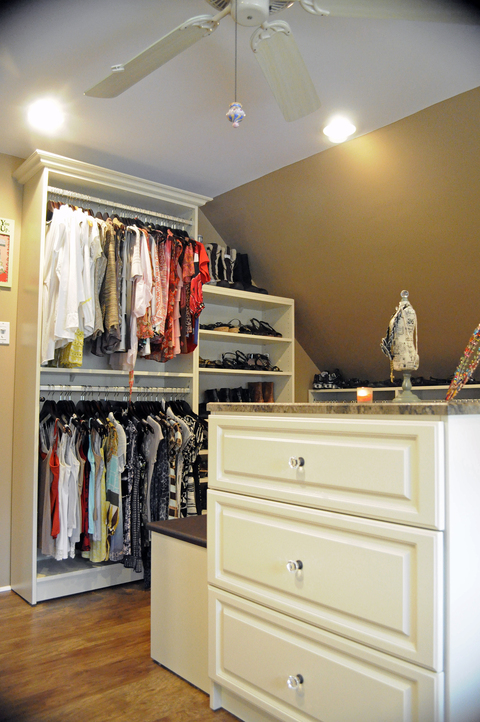 Traditional Closet with crystal cabinet knobs