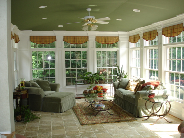 Casual Comfortable Sunroom In Fairfax Bump Out Crown