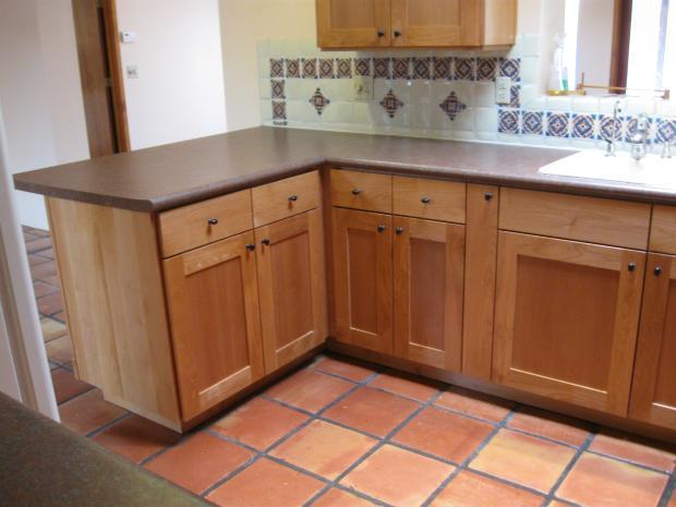 Transitional Kitchen In Tuscon Spanish Tile Floor