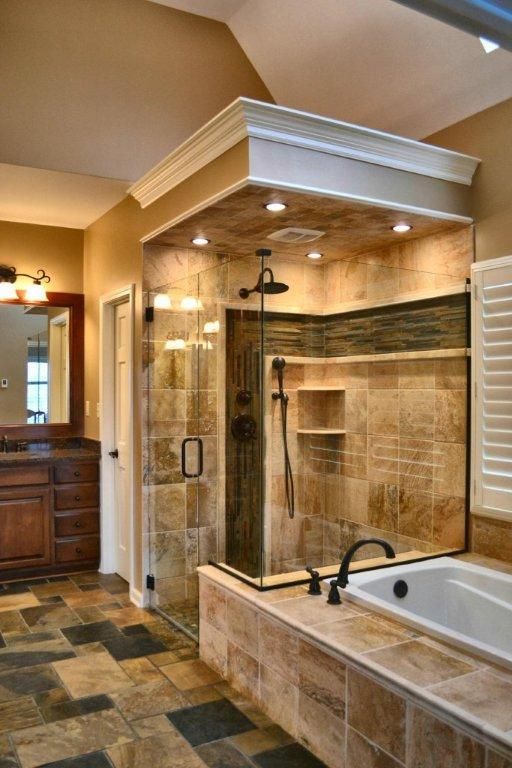 Traditional Bathroom in Blue Springs - white ceramic drop in tub ...