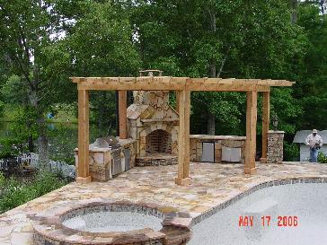 Pergola Over Outdoor Kitchen Pictures And Photos