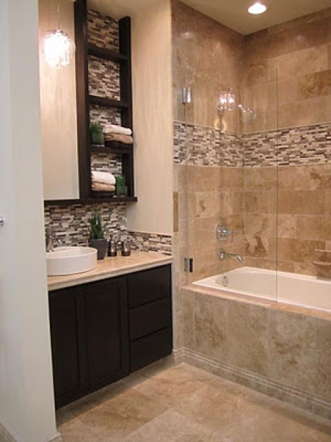 Contemporary Bathroom with chrome plumbing fixtures